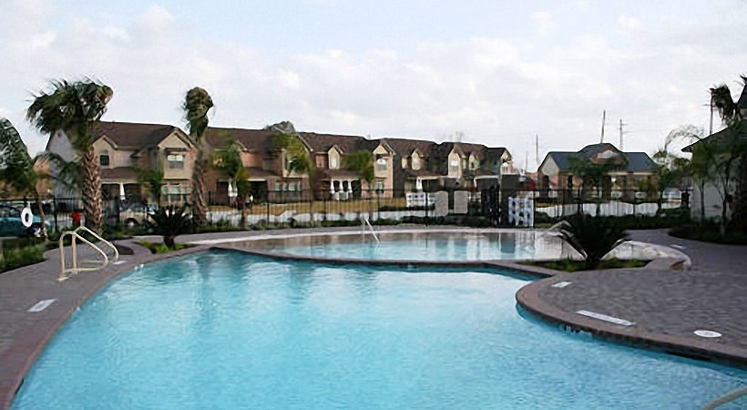 Pool with Houses
